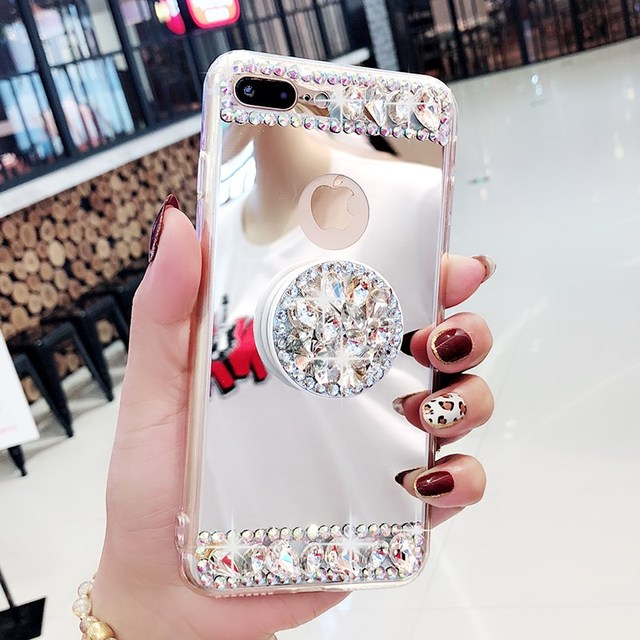 check out 18def 55765 US $9.99 |Fancy heart crystal stones mirror phone case cover For Samsung  galaxy j2 j4 j5 j6 j7 j8 a5 a6 a7 a8 2017 2018 prime plus pro-in Rhinestone  ...