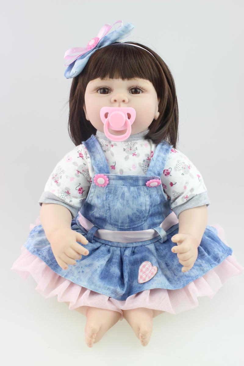 22inch 55cm silicone reborn baby dolls Soft touch  Lifelike girl  bonecas Gift for Children Christmas Present22inch 55cm silicone reborn baby dolls Soft touch  Lifelike girl  bonecas Gift for Children Christmas Present