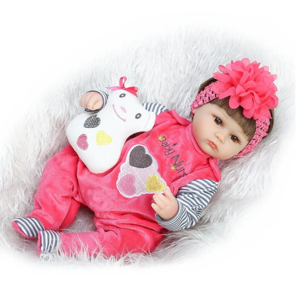 16 Inch 40cm Silicone Reborn Baby Doll kids Playmate Gift For Girls Baby Alive Soft Toys For Bouquets Doll Babies Reborn dolls 18 inch vinyl reborn doll kids playmate gift for girls 45 cm baby alive soft toys for children lifelike reborn babies dolls