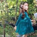 Criança Meninas Vestido Tutu Outono Criança Do Partido Da Princesa Vestido de Baile Crianças Encantador Roupas de Casamento Para As Crianças Do Bebê, rosa/Branco/Verde