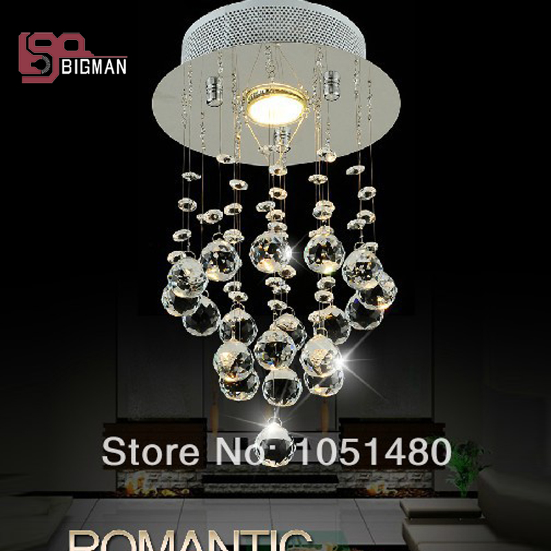 New Round Modern Chandeliers Crystal Lighting Fixtures Re Hallway Lights Aisle Lamp