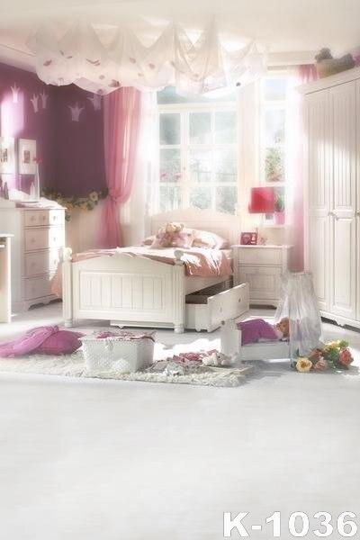 Romantic Bedroom Curtains: Fantasy Wedding/Couples Background Romantic Bedroom