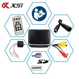 Image 5 - Xst 17.3 Polegada montagem no telhado do carro monitor flip down tft lcd player com hd 1080p vídeo usb fm hdmi sd botão de toque teto mp5 jogador