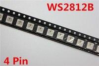 10 ~ 1000 шт. WS2812B (4 контакта) светодиодный чип 5050 RGB SMD белая версия WS2812 индивидуально адресуемые цифровые пиксели DC5V