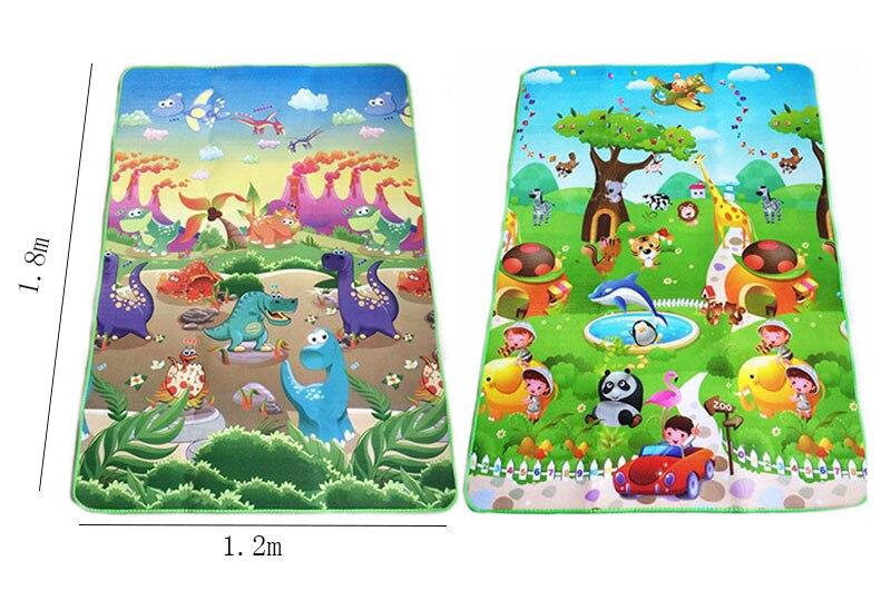 HTB134ZZbB1D3KVjSZFyq6zuFpXa6 0.5cm Double-Side Baby Crawling Play Mat Dinosaur Puzzle Game Gym Soft Floor Eva Foam Children Carpet for Babies KidsToys