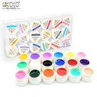 GDCOCO 18 Colors*5ml Painting Gel Kit 20201 CANNI Factory Nail Art Gel Lacquer Polish Design Manicure Pure Color UV Nail Gel Kit