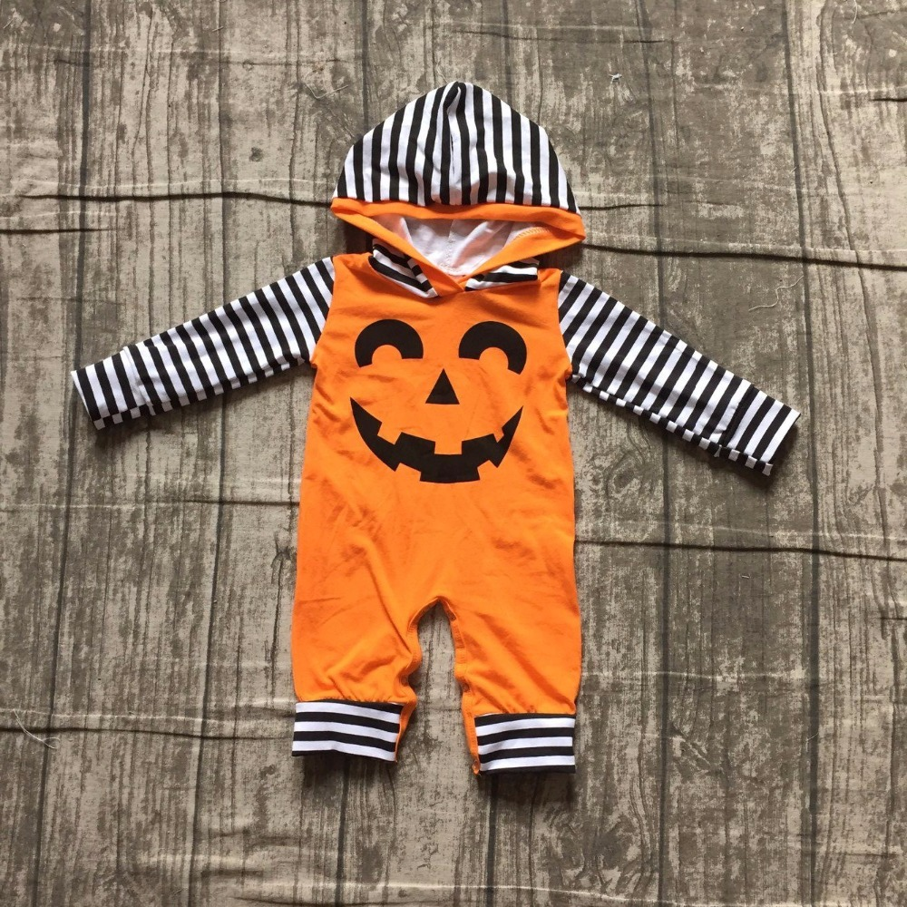 girls Halloween jumpsuits sets infant toddler baby girls Halloween romper outfits baby infant girls pumpkin face romper sets plus size halloween angry pumpkin skew neck tee