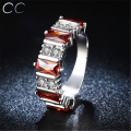 Colorful Stone CZ Diamond Rings for women wedding engagement party white gold plated vintage fashion jewelry accessories CC287