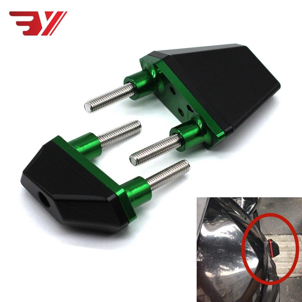 Black Green CNC Aluminum Crash Pads Frame Sliders Protector For Kawasaki Z800 2013 2016 Z750 Z1000 Motorcycle Accessories Parts