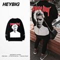 Purpose tour Men Sweatshirts 2016 new Fashion Bierber Back Print Crewneck Hoodies HEYBIG Youth Hippest Pullovers CN size