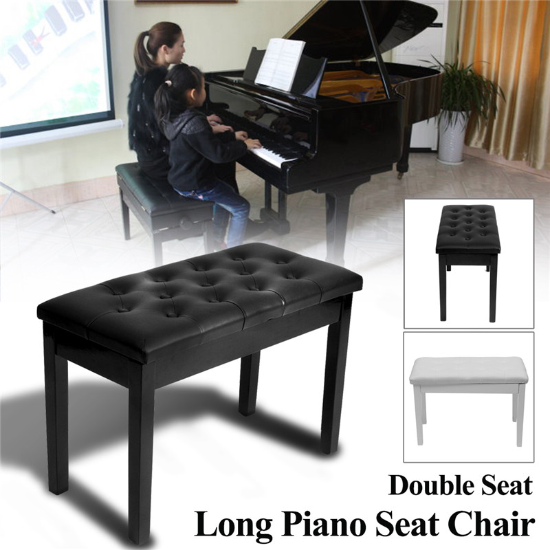 SENRHY New Double Seat Long Piano Keyboard Bench Stool PU Leather Seat Chair  Solid Wood Frame Comfortable Multi Functional Hot In Violin Parts U0026  Accessories ...