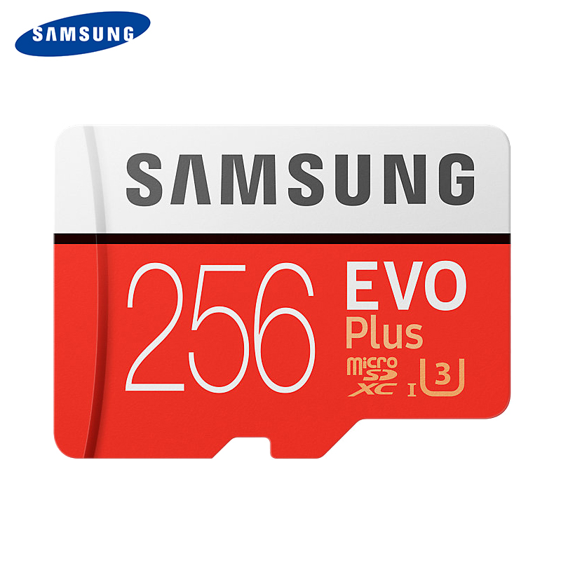 SAMSUNG Memory Card Micro SD 256GB SDXC Grade EVO+ Class 10 C10 UHS TF Cards Trans Flash Microsd New-in Micro SD Cards from Computer & Office