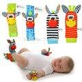 Sozzy 4 pcs = 2 pcs cintura + 2 pcs meias Infantil Bebê Crianças Sock rattle brinquedos Pulso Chocalho e Meias nos pés 0 ~ 24 Meses
