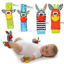 Sozzy 4pcs 2pcs waist 2pcs socks Infant font b Baby b font Kids Sock rattle toys
