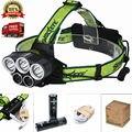 Hot USB Farol 5 Modos Recarregável 10000Lm LEVOU Farol Caça Pesca Camping Head light Lanterna + 18650 Bateria