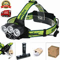Hot USB Headlight 5 Modes Rechargeable 10000Lm LED Headlamp Hunting Camping Fishing Head light Lanterna +18650 Battery