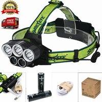 Hot USB Reflektorów 5 Lm Tryby Akumulator LED Reflektor Polowanie Camping Wędkowanie Head light Lanterna + 18650 Baterii