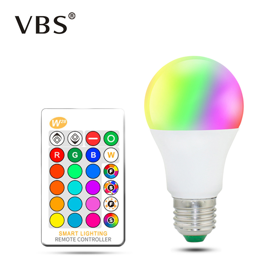 Led Rgb Bulb Lamp Ac85-265V Spot Light Dimmable Magic Holiday Rgb Lighting+Ir Remote Control 16 Colors 5W 10W 15W