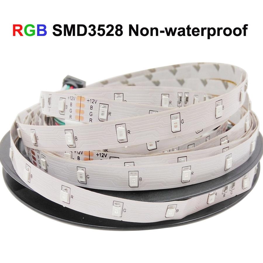 HTB134 ibBOD3KVjSZFFq6An9pXam WiFi Led Strip Light SMD 5050 60led 2835 RGB Led Stripe DiodeTape DC12V Flexible RGB LED Strip Ribbon Diode with WiFi Controller