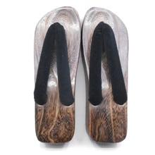 Cosplay Footwear Ladies's Boat Formed Excessive Heel Carboned Wood Sandals Summer time Slippers Flip Flops Conventional Japan Geta