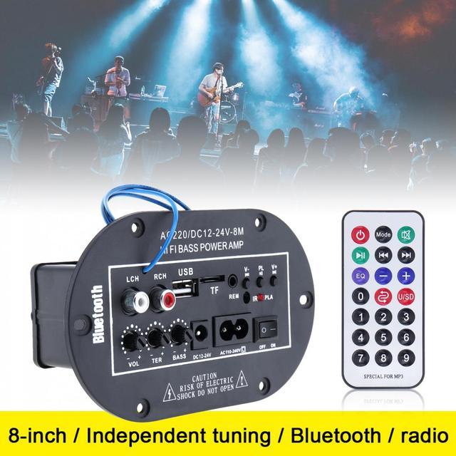 Cheap 8Inch 25W HI-FI Bluetooth Car Audio Power Amplifier Universal Auto FM Radio Player Support SD/USB/DVD/MP3 Input + Remote Control