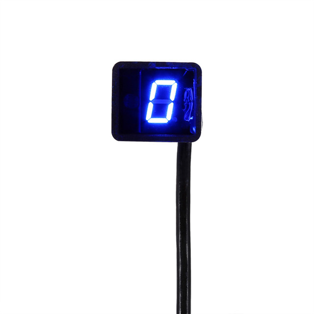 Motorcycle LED Digital Gear Indicator Motorcycle Display Shift Lever Sensor Universal Blue
