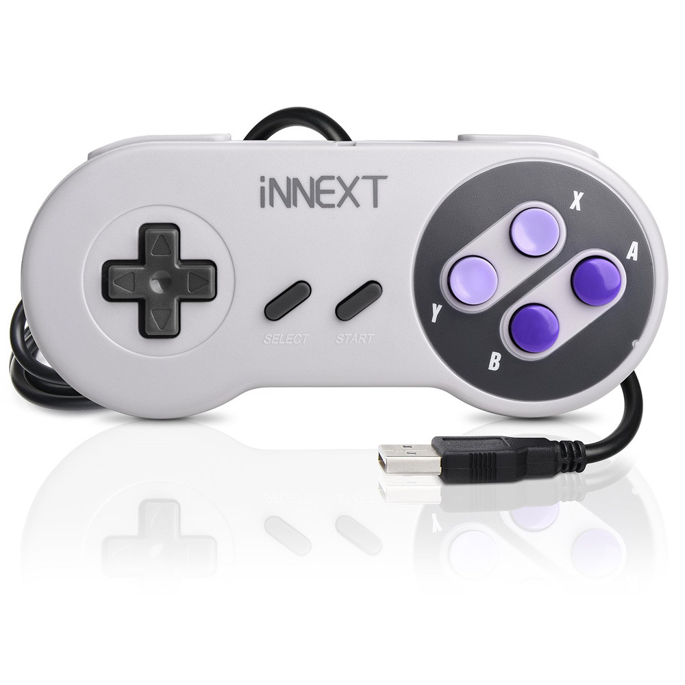 Wired USB Gamepad SNES game controller Retro gaming joypad joystick For Nes UK control (1)