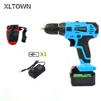 XLTOWN 21v Electric Screwdriver Multifunction Rechargeable Lithium Drill Electric Household Cordless Electric Drill Power Tools