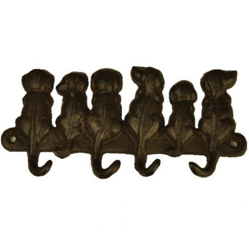 Cast Iron Dog Door Key Hook Pastoral European Retro Wall Hanging Coat Creative Classical Room Decor