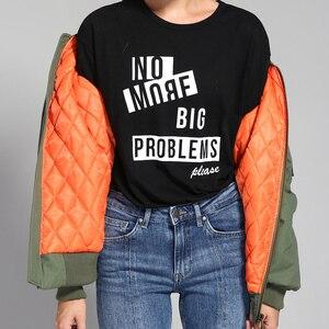 Image 2 - JAZZEVAR2019 New outono inverno moda de rua Mulheres jaqueta bomber zipper jaqueta básica cusual algodão outerwear boa qualidade 86220