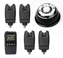 Free Shipping Waterproof Wireless alarm set 2/3/4 pcs Bite Alarms +1*touch shock Receiver+lamp light receiver for Carp Fishing(China)