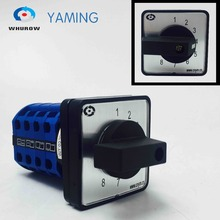 Yaming Electric AC 500V 16A 8 position Universal Latching Rotary Selector Cam Changeover Switch Panel Mounting LW39B-16/4