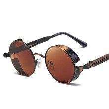 cc66ed0abb Gafas de sol Steampunk gafas de sol hombres mujeres de lujo redondo gafas  de sol para damas Retro círculo Vintage Hombre Mujer