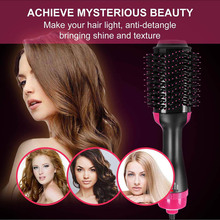 Hot Multifunctional Air Hair Brush Negative Ion Straightening Curler Styling Dryer SJ66