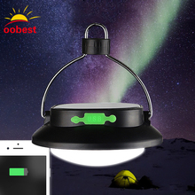 oobest Solar Powered 12 LED Outdoor Camping light Tent lamp Hiking Lantern Battery USB Recharge 3 Model Outdoor Night Lighting