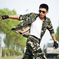 Traje de caza de camuflaje militar para hombre, ropa táctica, uniforme de combate, chaqueta especial + Pantalones