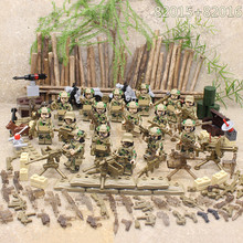 2ee17659bc2 Special Forces Military SWAT Army Weapon Soldier Marine Corps Building  Blocks Figures Toy Children Gift Compatible