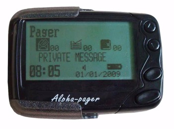 Pocsag pager, belt wireless calling system receiver, text message wireless receiver, Pocsag paging alpha pager
