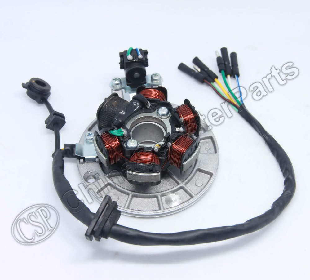 US $35 0  Magneto Stator 6 Pole Coil 6 Wire Lifan 1P55FMJ 140CC Xmotos Kaya  Apollo 140CC Dirt Pit Bike Parts-in ATV Parts & Accessories from