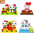 LOZ Hello Kitty 4 Style Scene Building Blocks Toys Action Building Blocks Model Bricks Classic Christmas Gift For Girls