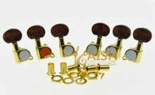KAISH Gold w/ Pearl Buttons Guitar Tuners Tuning Keys for Acoustic Electric Guitars
