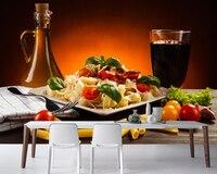 Papel de parede Drinks Vegetables highball glass Pasta Food wallpaper,fast food shop restaurant dining room kitchen murals