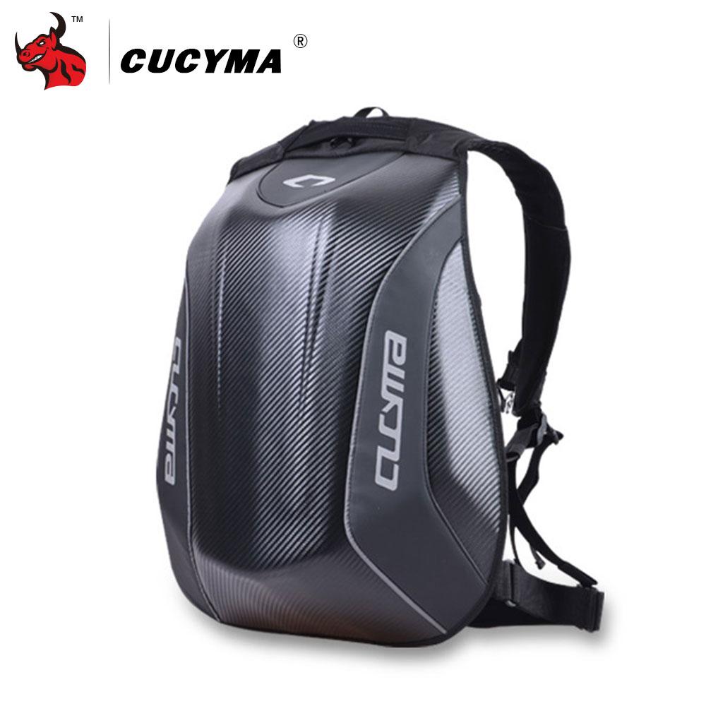 CUCYMA Motorcycle Bag Waterproof Motorcycle Backpack Carbon Fiber Motocross Racing Riding Helmet Bag Motorbike Backpack