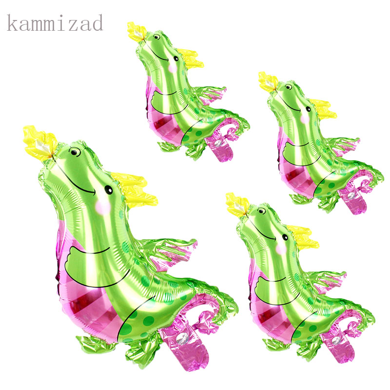 New 16 quot 30pcs Mini Small fire dragon Animal Foil Balloons Dinosaur air balloon Birthday Party Baby Shower Decorations Kids Toys in Ballons amp Accessories from Home amp Garden