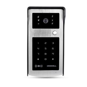 Image 2 - Проводной Водонепроницаемый видеодомофон, система наружной камеры, светодиодный светильник с защитой от дождя и RFID брелоками