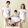 t-shirt	mommy and me clothes	fashion	mother father baby	cotton	family look	short sleeve	striped	4303