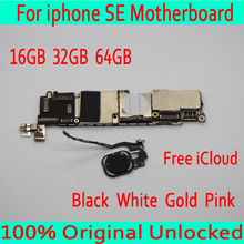 С Touch ID для iphone SE материнская плата, 100% оригинал разблокирована для iphone 5SE SE материнская плата с системой IOS