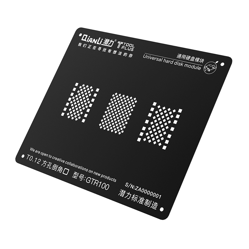 Black Steel <font><b>BGA</b></font> <font><b>Stencil</b></font> Soldering Net for iPhone 5 6 6S 7 8 <font><b>Universal</b></font> Hard Disk HDD NAND Planting Tin Template Reballing Plate image