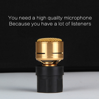 Microphone Core Cartridge Replacement Capsule Repair Parts Core for Wire & Wireless