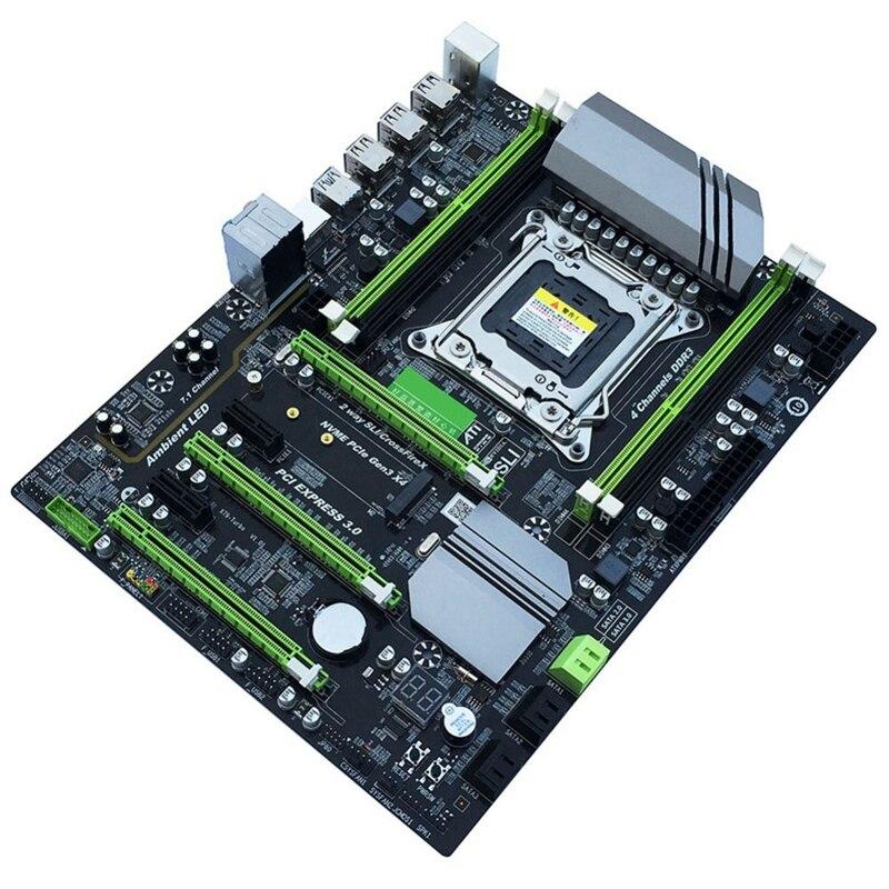 X79t ddr3 pc desktops placa-mãe lga 2011 cpu computador 4 canais suporte para jogos m.2 E5-2680V2 i7 sata 3.0 usb 3.0 para intel b